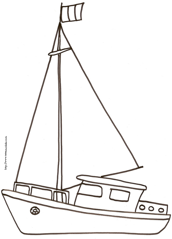 dessin bateau 3 ans