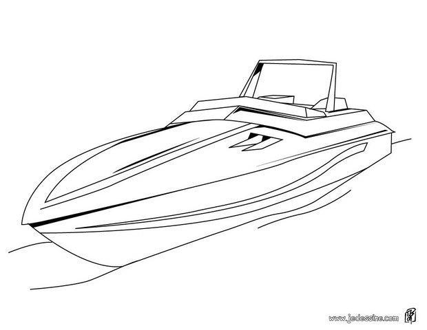 Dessin bateau de course - Dessin de bateau ...
