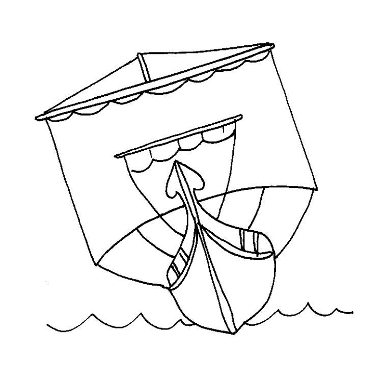 coloriage à dessiner bateau guerre