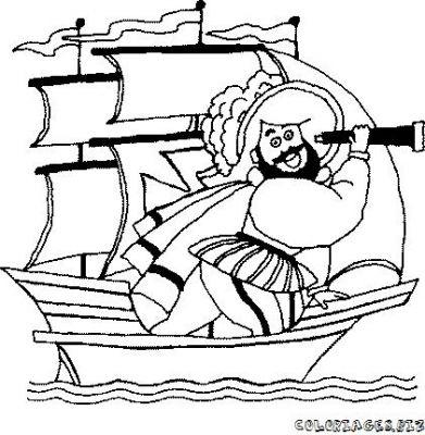 coloriage à dessiner bateau moteur
