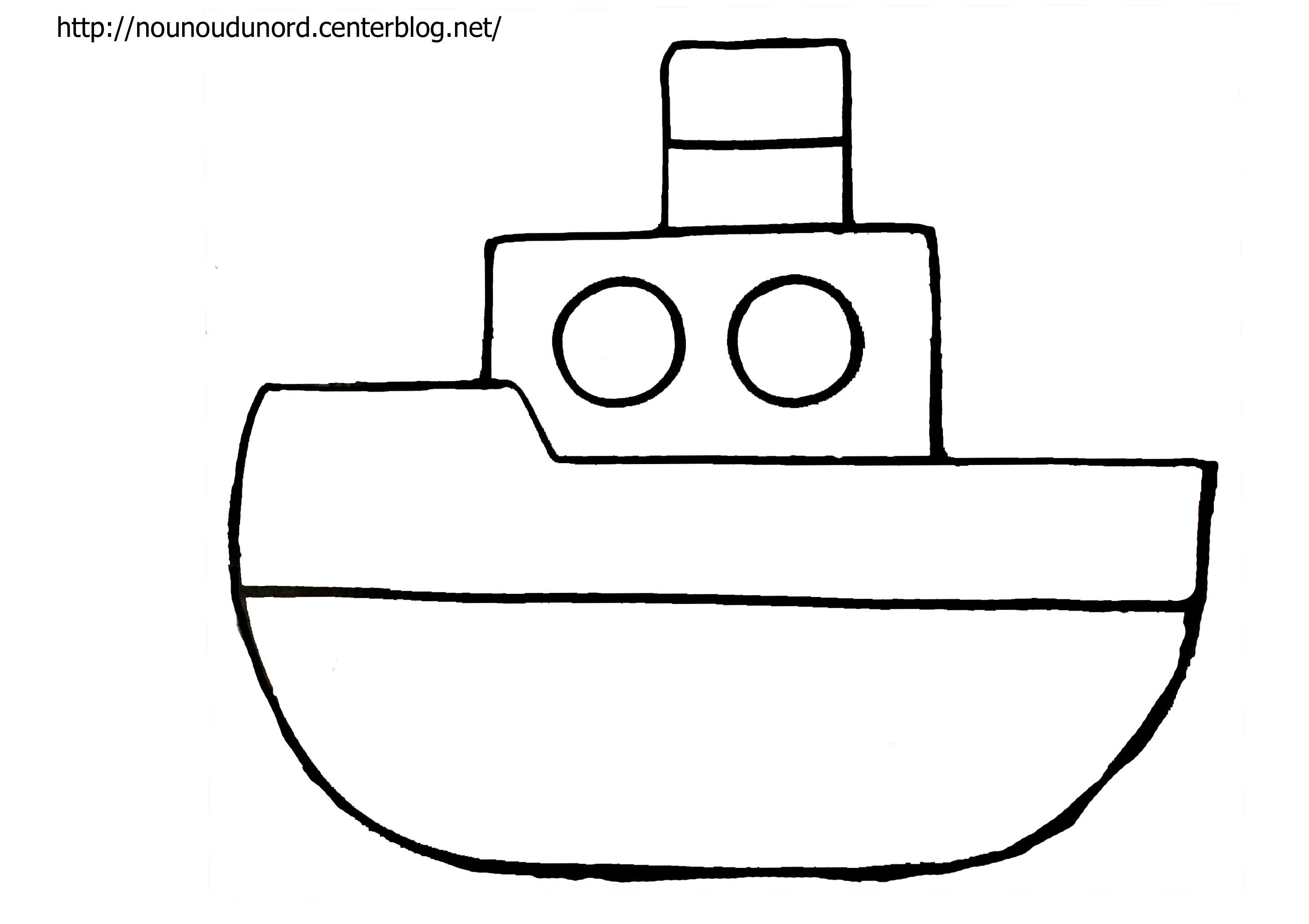 Dessin bateau facile - Coloriage bateau a imprimer ...