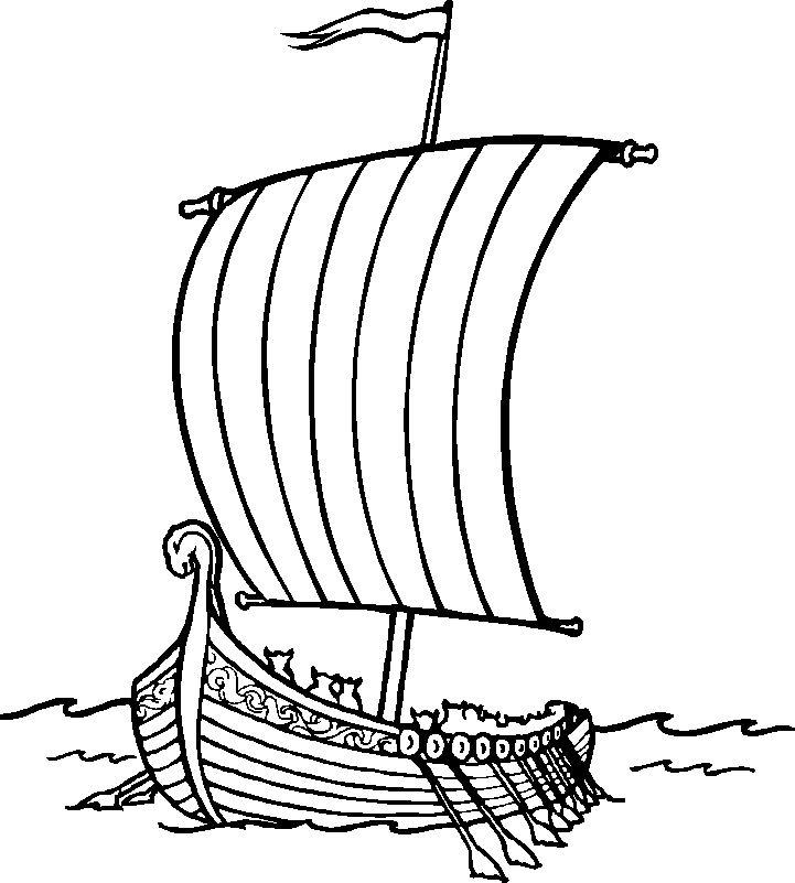 dessin à colorier bateau de pirate gratuit