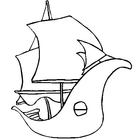 coloriage à dessiner tv bateau