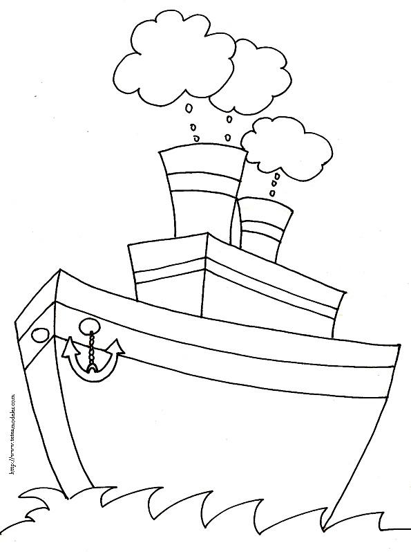 coloriage bateau de guerre à imprimer