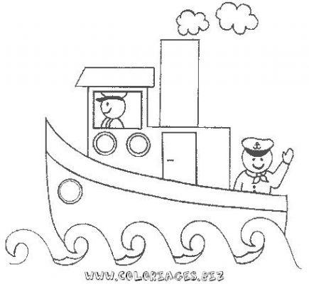 coloriage barbie bateau