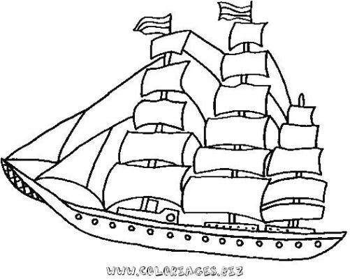 coloriage à dessiner bateau luffy