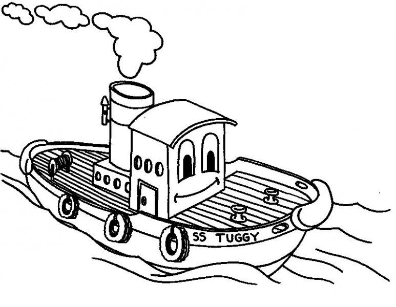 coloriage bateau 3 ans