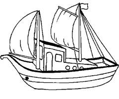 coloriage à dessiner bateau maternelle