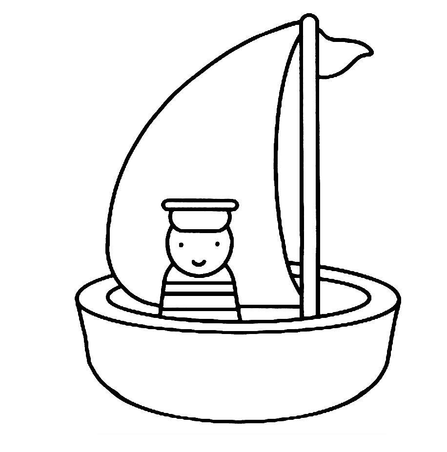 dessin voile bateau pirate