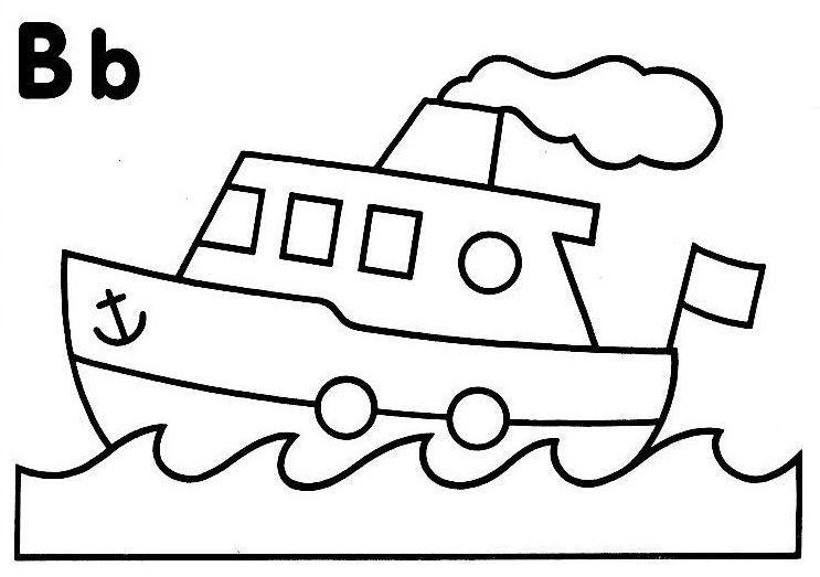 coloriage a dessiner d un bateau sur la mer