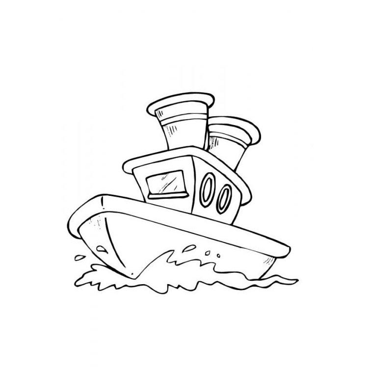 coloriage bateau a moteur