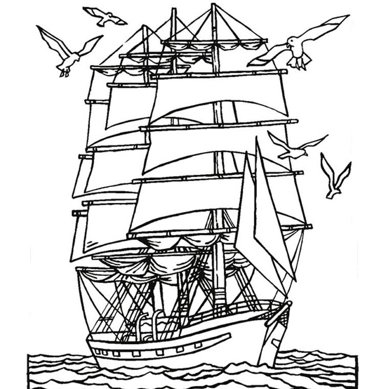 95 dessins de coloriage bateaux voiliers imprimer - Dessin de bateau facile ...