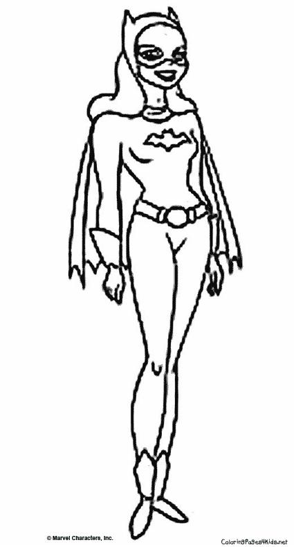 dessin � colorier batgirl