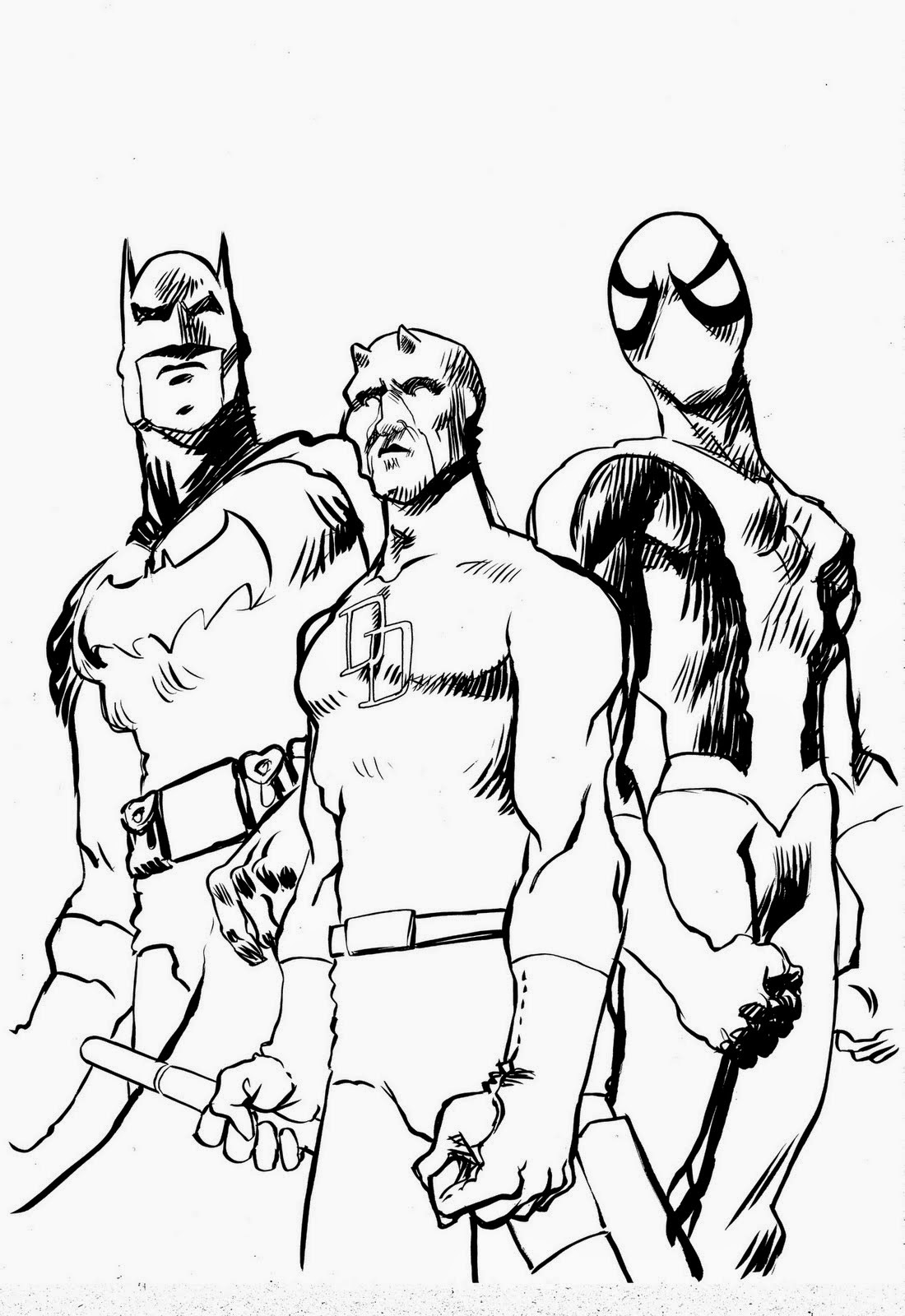 5 dessins de coloriage batman et spiderman imprimer - Coloriage a imprimer batman ...