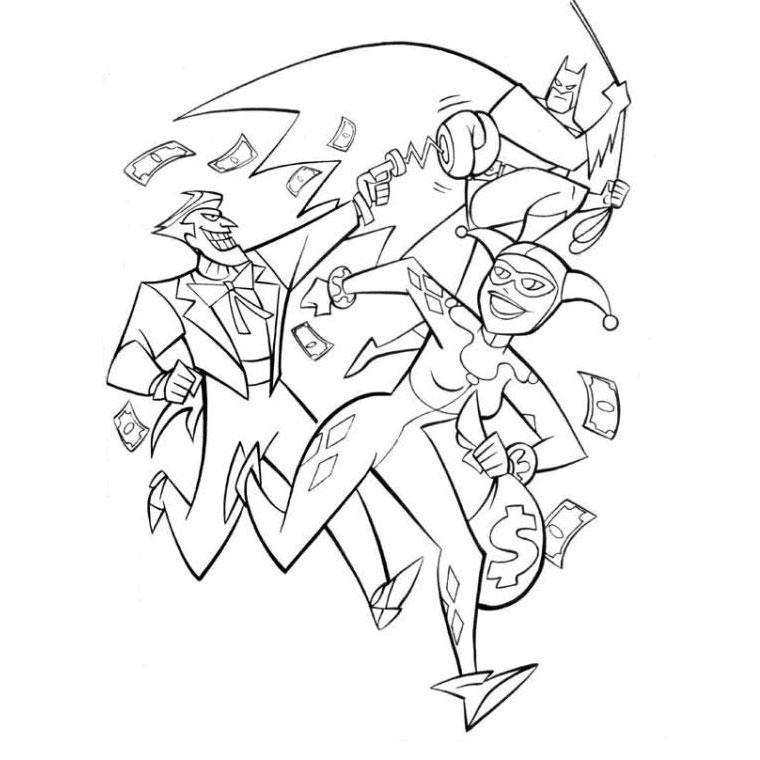 14 dessins de coloriage batman joker imprimer - Batman a imprimer ...