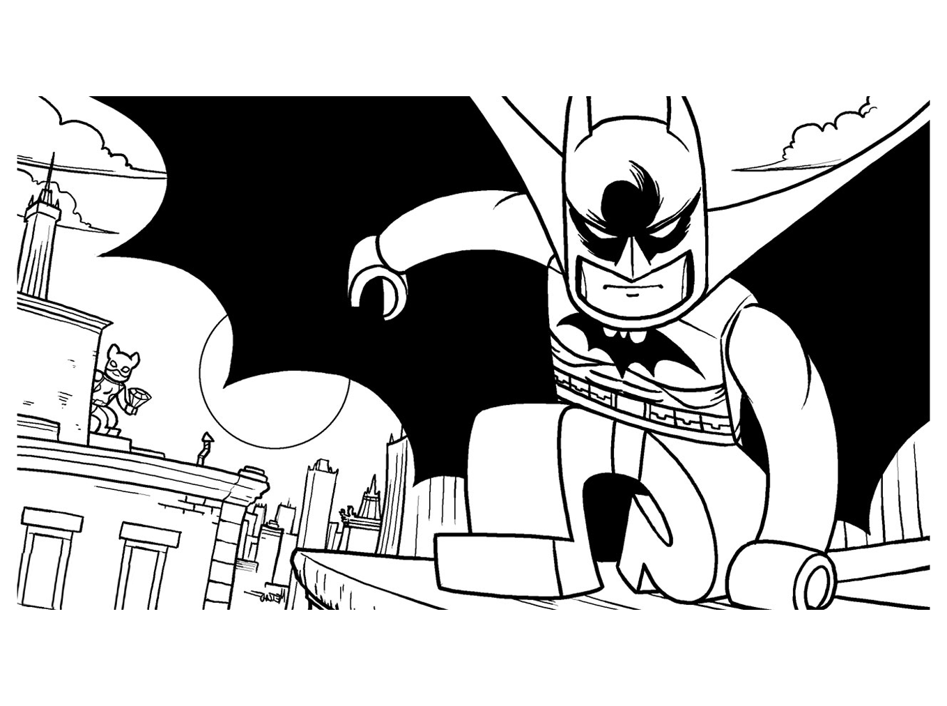 10 dessins de coloriage batman lego imprimer imprimer - Batman a imprimer ...