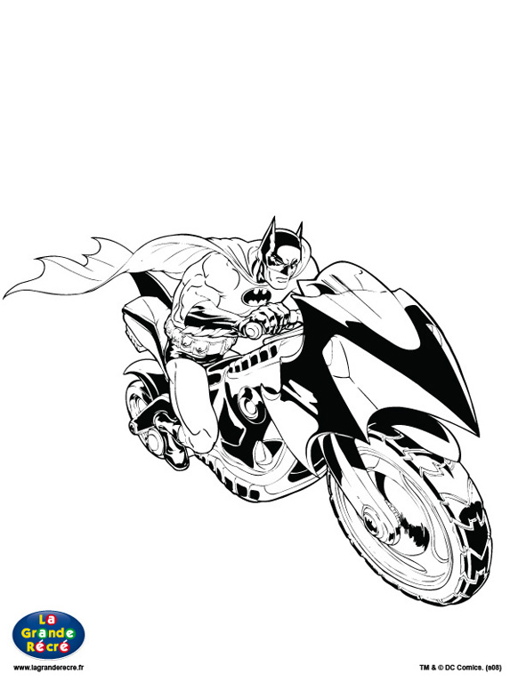 12 dessins de coloriage batman moto imprimer - Coloriage a imprimer batman ...