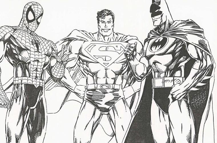 10 dessins de coloriage batman superman imprimer - Dessin a imprimer batman ...
