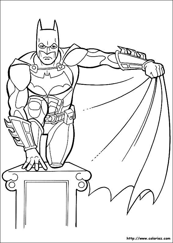 dessin a imprimer batman et robin