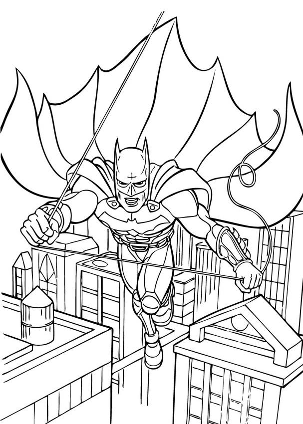 coloriage de batman jeux
