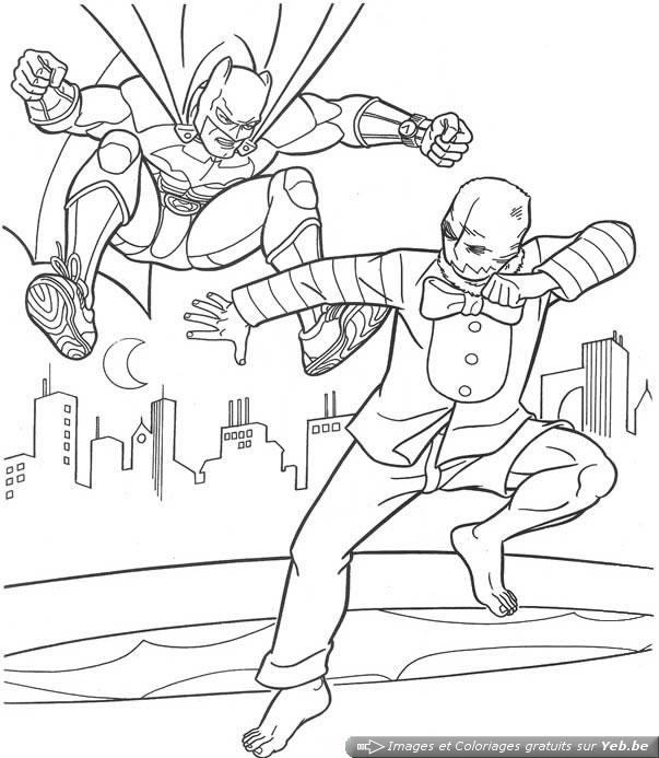 dessin à colorier batman poison ivy