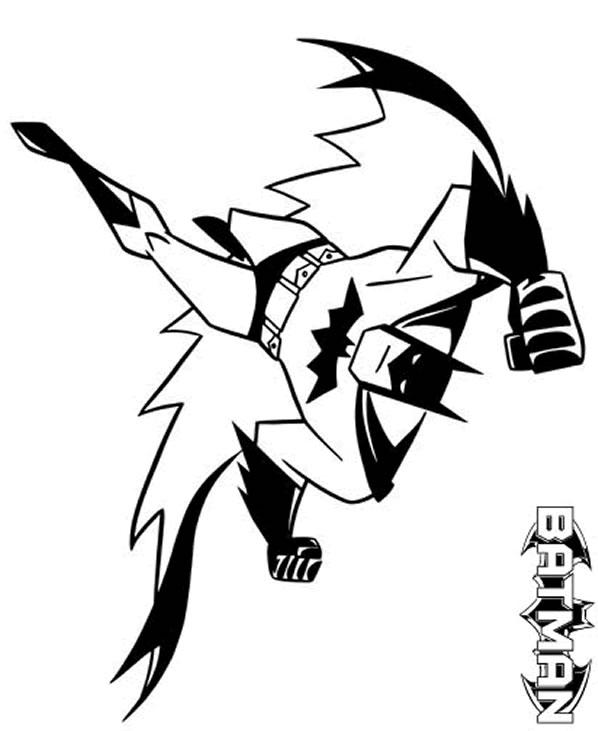 dessin batman sur ordinateur