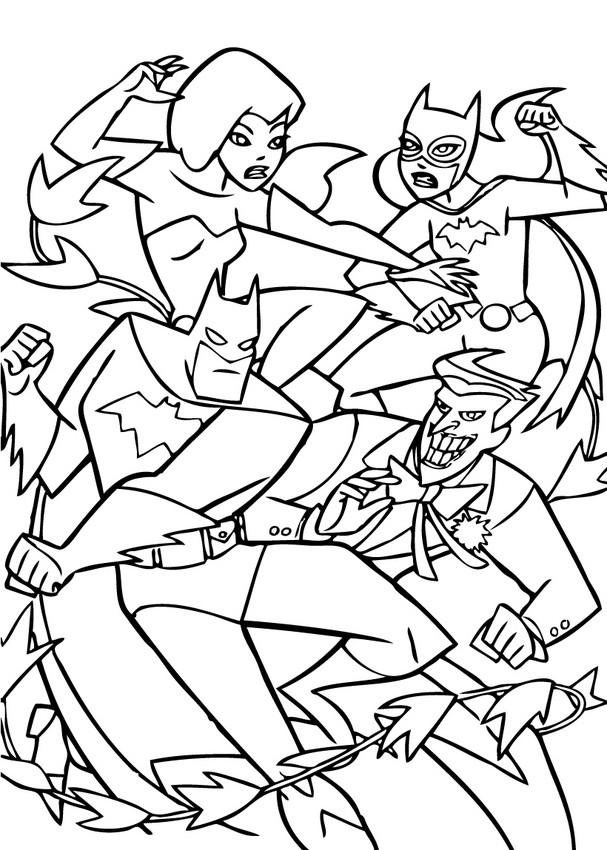 coloriage à dessiner de batman gratuit
