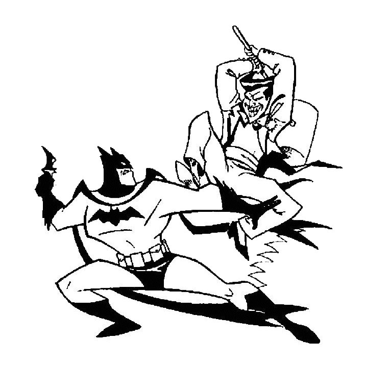 coloriage à dessiner batman et robin en ligne