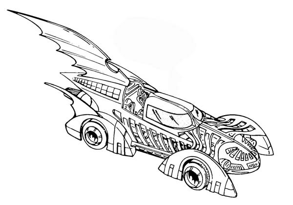 dessin batman voiture