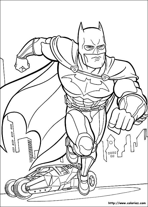 dessin à colorier batman catwoman