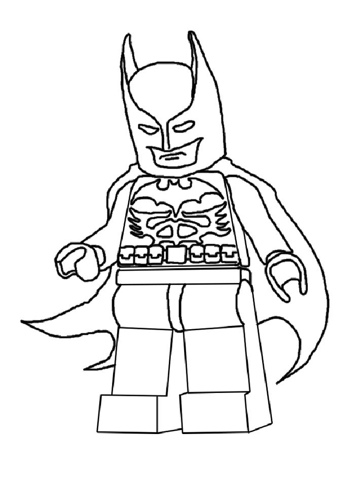 coloriage à dessiner batman bleu