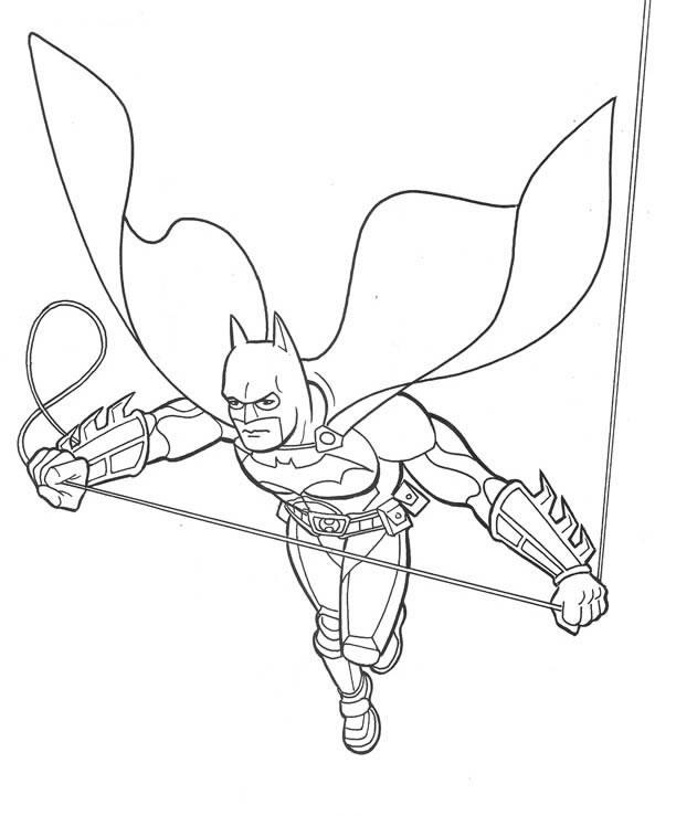 Dessin A Colorier De Batman Et Spiderman A Imprimer