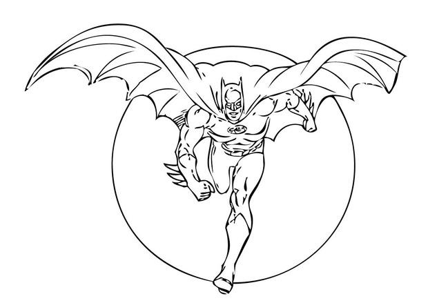 coloriage à dessiner batman film