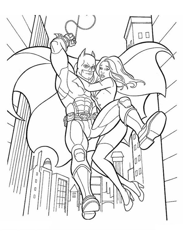 image à colorier batman