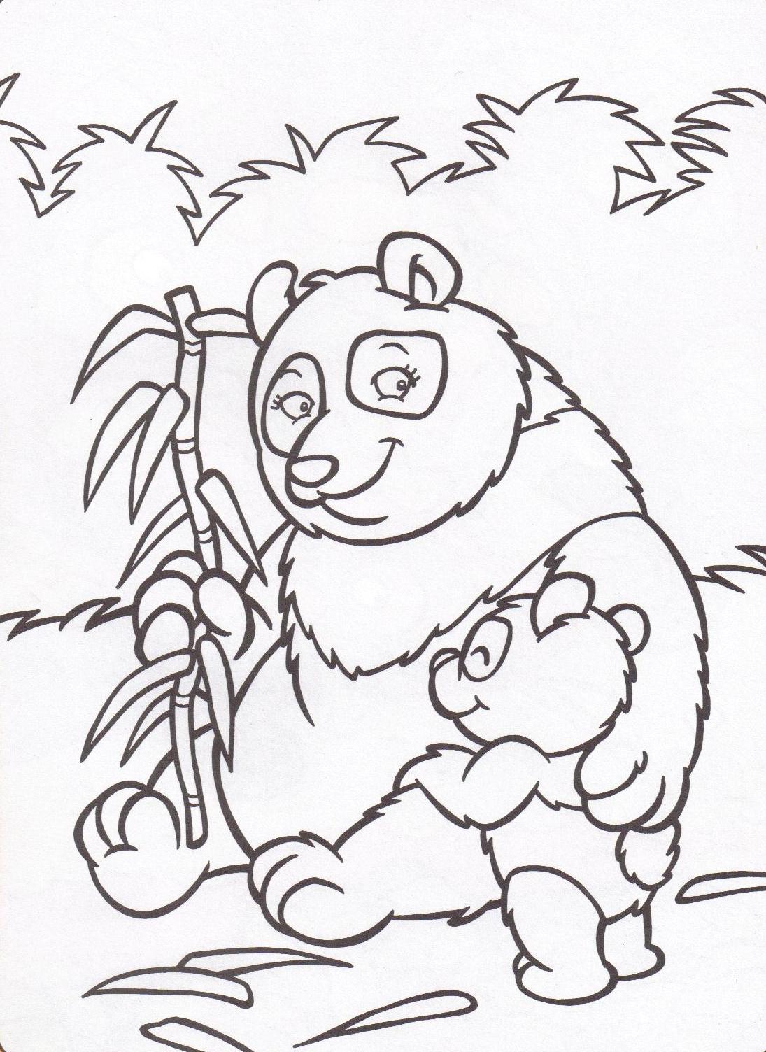 6 dessins de coloriage b b panda imprimer - Panda coloriage ...