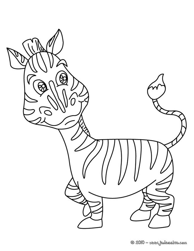 20 dessins de coloriage b b z bre imprimer - Zebre coloriage ...