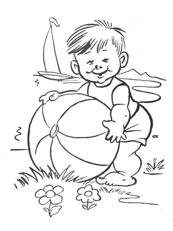 coloriage à dessiner bébé dort