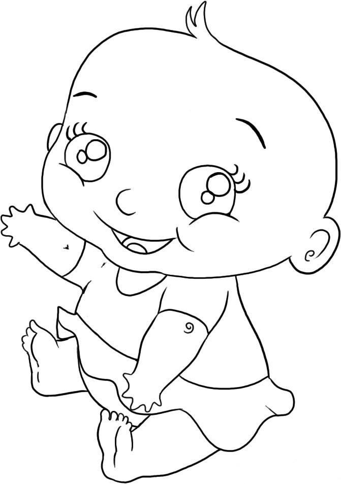 coloriage à dessiner bebe 24 mois