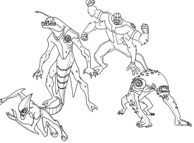 dessin ben 10 sur hugo l'escargot