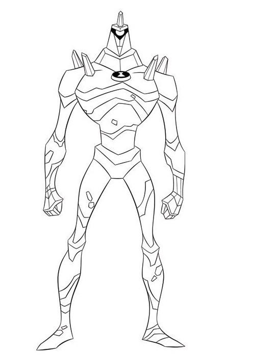 coloriage à dessiner ben 10 alien swarm