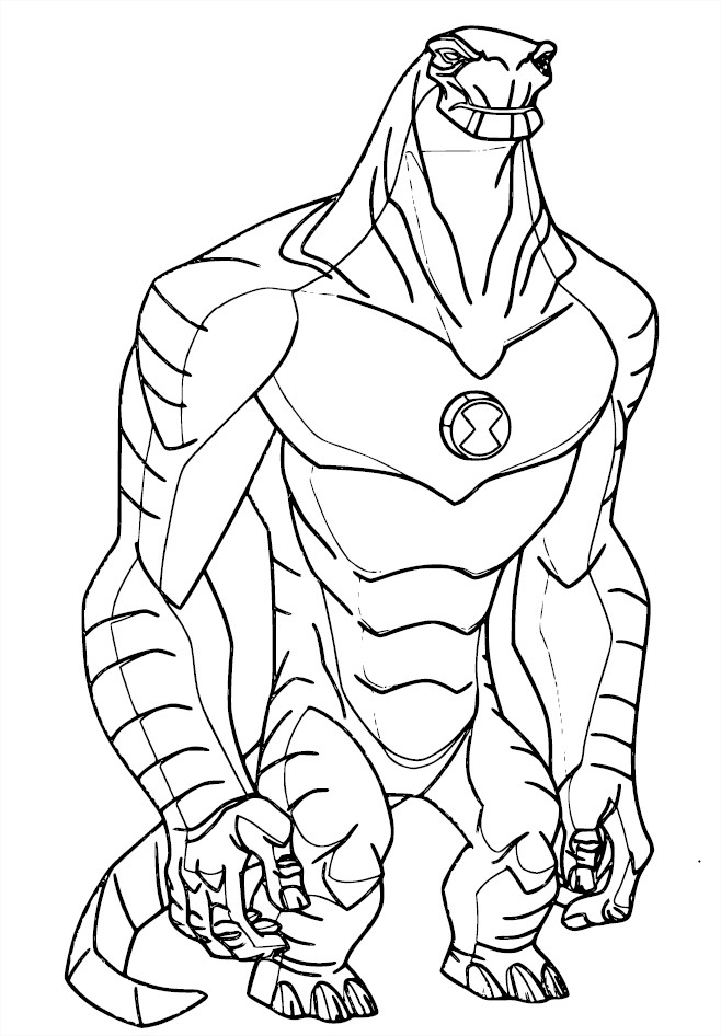 jeu de coloriage à dessiner ben 10 ultimate alien