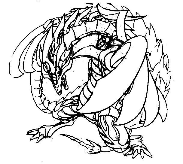 coloriage à dessiner beyblade kyoya