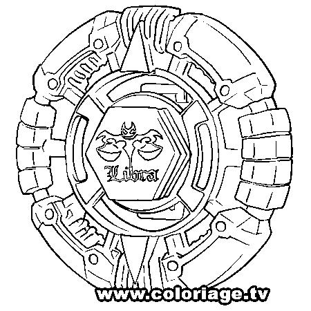 dessin à colorier beyblade metal fury en ligne