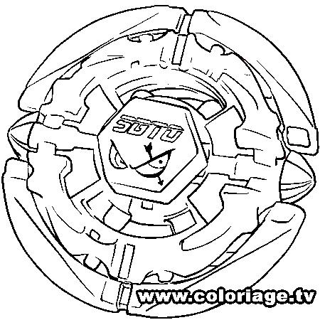 dessin à colorier beyblade en ligne