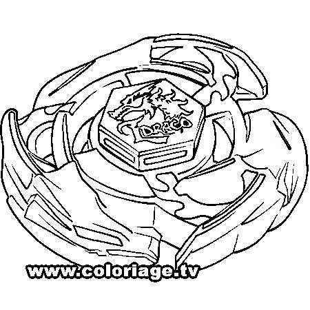 dessin à colorier de beyblade metal fury a imprimer