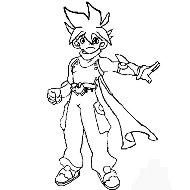 coloriage beyblade metal fury big bang pegasis