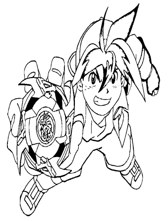 imprimer beyblade coloriage toupie