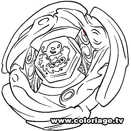 coloriage à dessiner beyblade 2