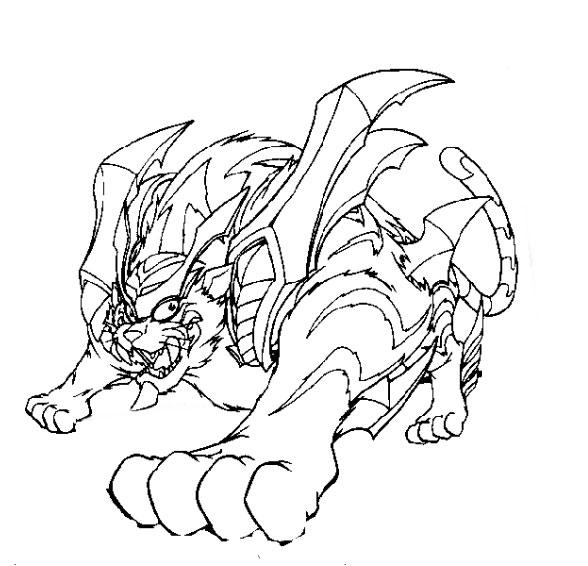 coloriage à dessiner beyblade pegasus a imprimer