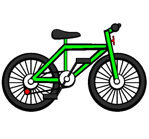 coloriage à dessiner d'une bicyclette